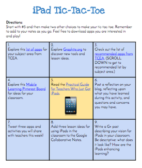 Learning menus and choice boards to differentiate in the classroom interactive learning menus choice boards using google docs shakeuplearning ipad tic tac toe pronofoot35fo Choice Image